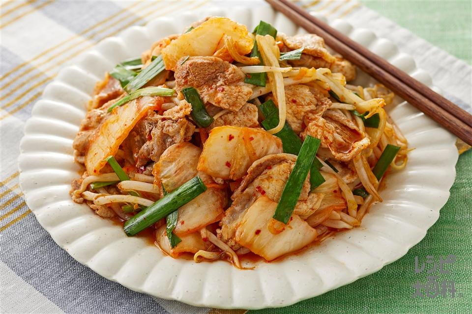 豚キムチ(豚ロース肉+白菜キムチを使ったレシピ)