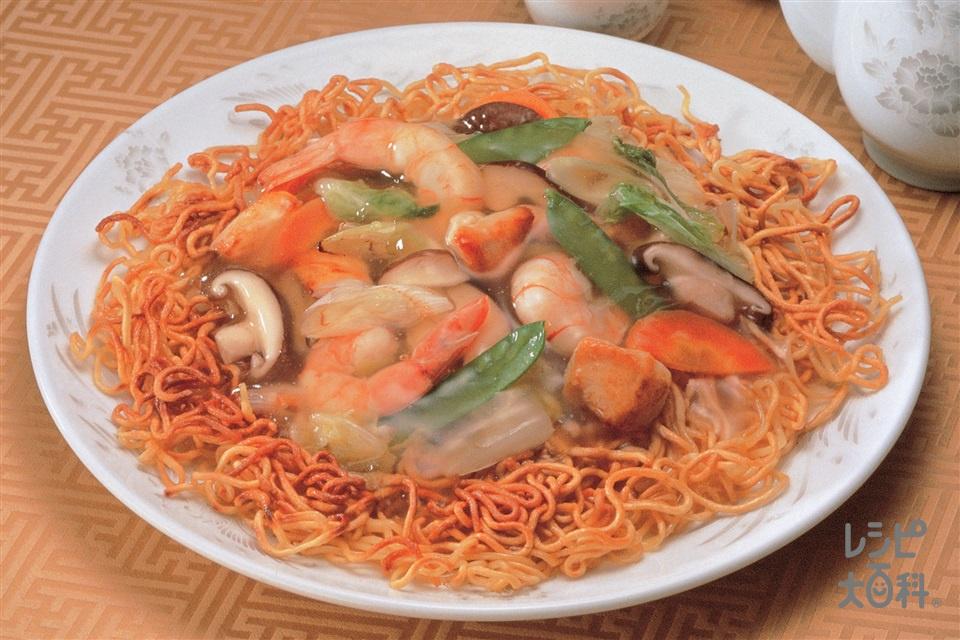 あんかけ焼きそば(鶏むね肉+中華蒸しめんを使ったレシピ)