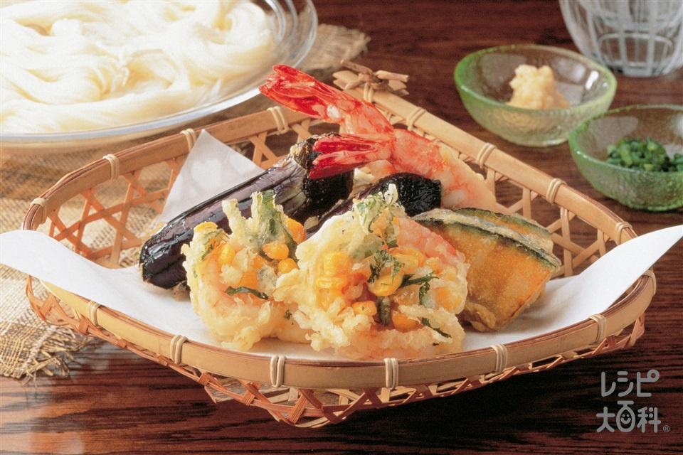 えびとコーンのかき揚げ(小えび+玉ねぎを使ったレシピ)