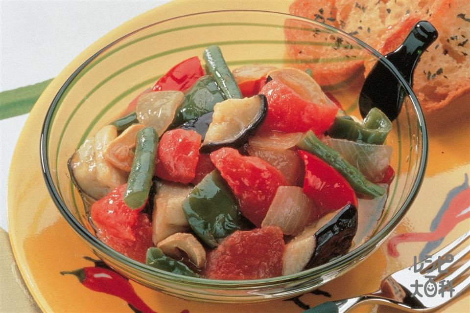 夏野菜のトマト煮(Aトマト+Aなすを使ったレシピ)
