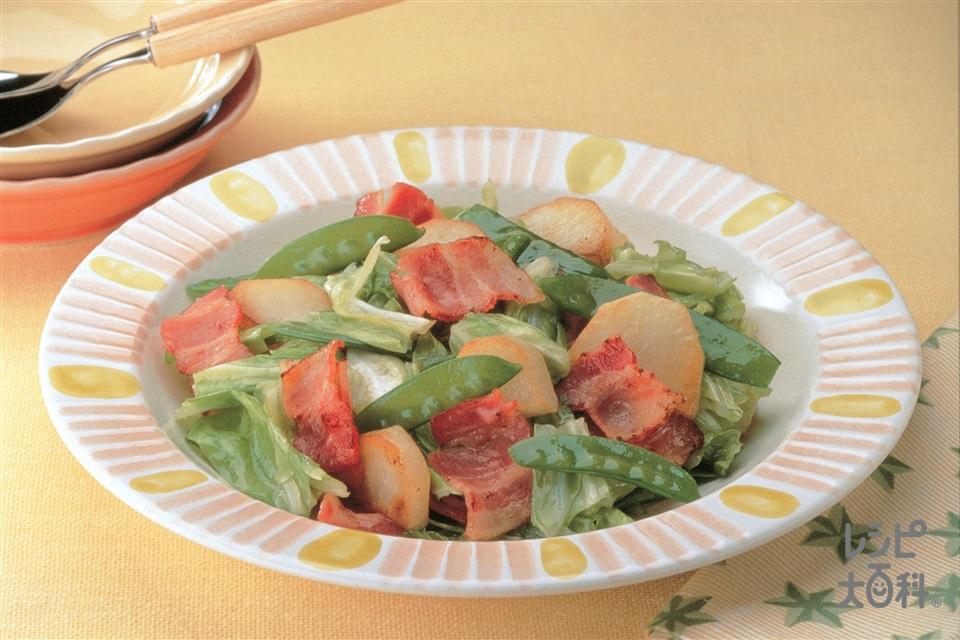 旬野菜とベーコンの炒めもの(キャベツ+新じゃがいもを使ったレシピ)
