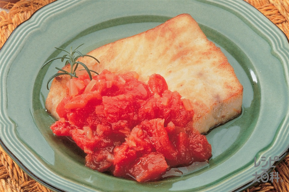 かじきのソテー トマトソース(かじき+ホールトマト缶を使ったレシピ)