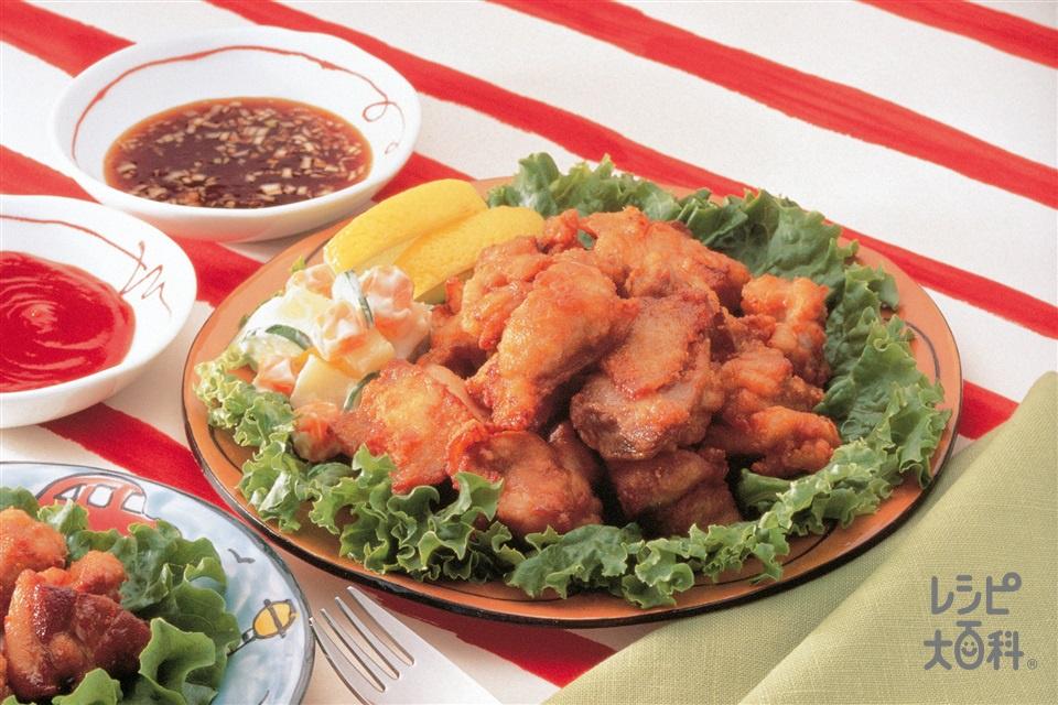 鶏のひと口から揚げ(鶏もも肉+Aしょうゆを使ったレシピ)