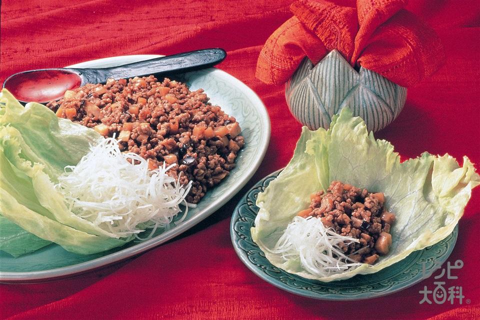 中国風レタス包み(豚ひき肉+レタスを使ったレシピ)