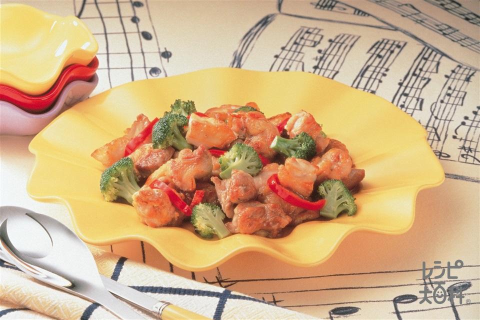 ブロッコリーと鶏肉の炒めもの(鶏もも肉+ブロッコリーを使ったレシピ)