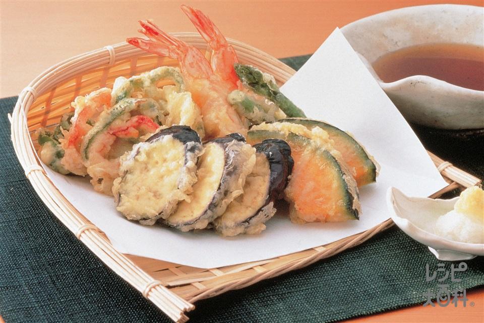 夏野菜の天ぷら(かぼちゃ+なすを使ったレシピ)