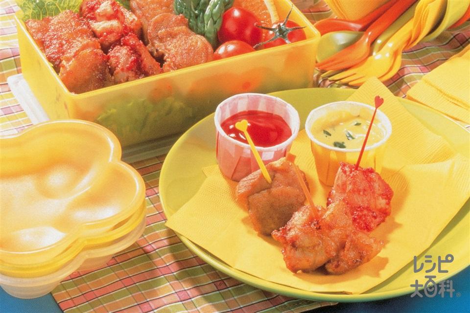 鶏肉の3色から揚げ(鶏もも肉+薄力粉を使ったレシピ)