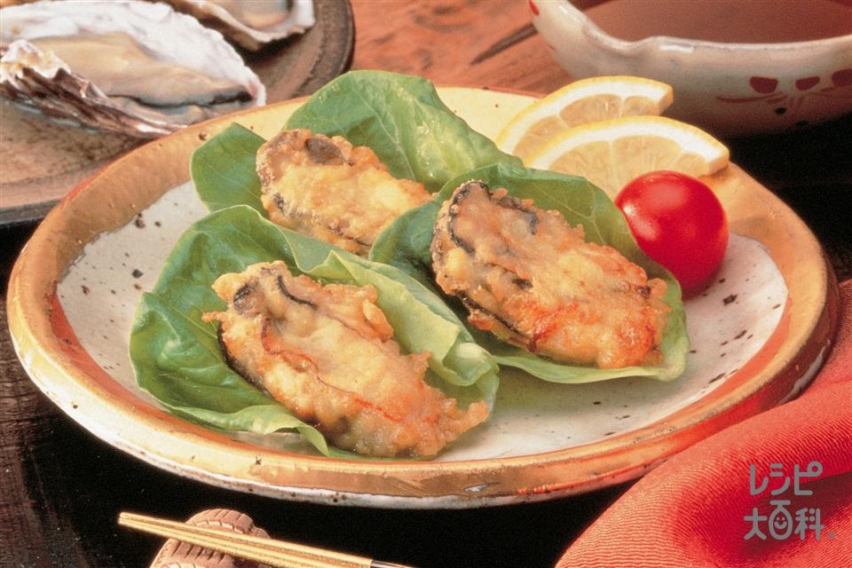 かきの天ぷら(かき+ミニトマトを使ったレシピ)