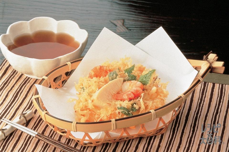 たけのこと小えびのかき揚げ(ゆでたけのこ+玉ねぎを使ったレシピ)