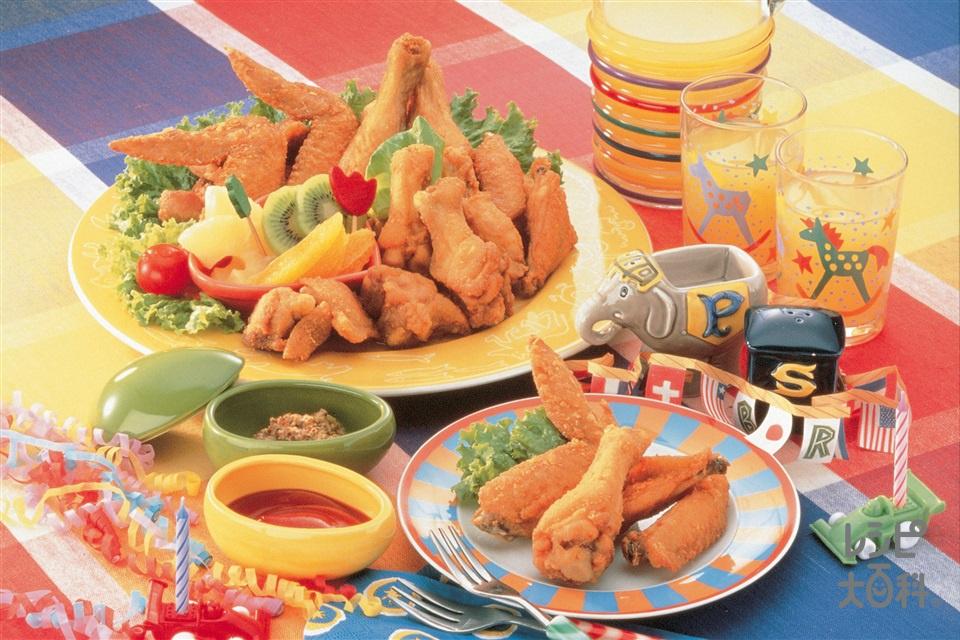 鶏のから揚げ(鶏手羽先+鶏もも肉を使ったレシピ)