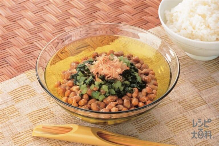 野沢菜納豆