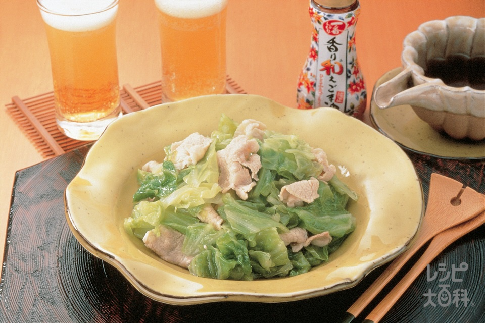 豚肉とキャベツの香り和え(豚肩ロース薄切り肉+キャベツを使ったレシピ)