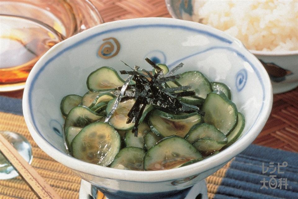 きゅうりと焼きのりの香り和え(きゅうり+焼きのりを使ったレシピ)
