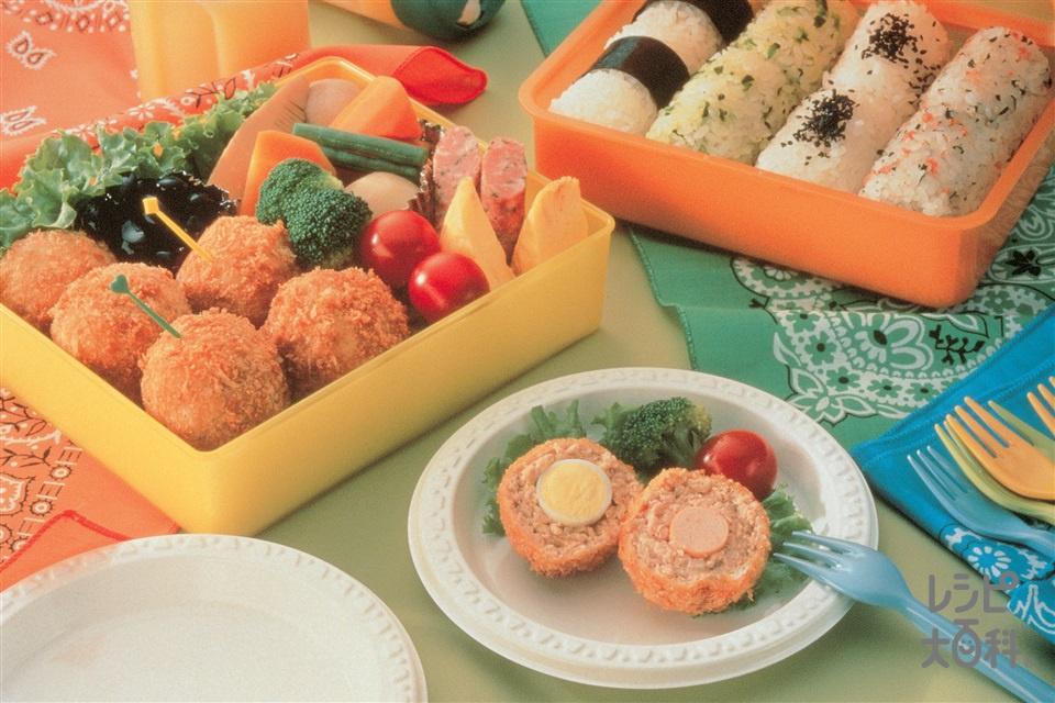 お楽しみメンチボール(豚ひき肉+玉ねぎを使ったレシピ)