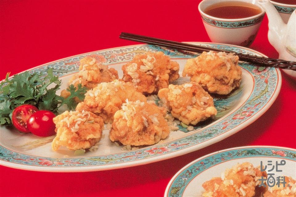 中国風鶏の唐揚げ(鶏もも肉+Aしょうが汁を使ったレシピ)