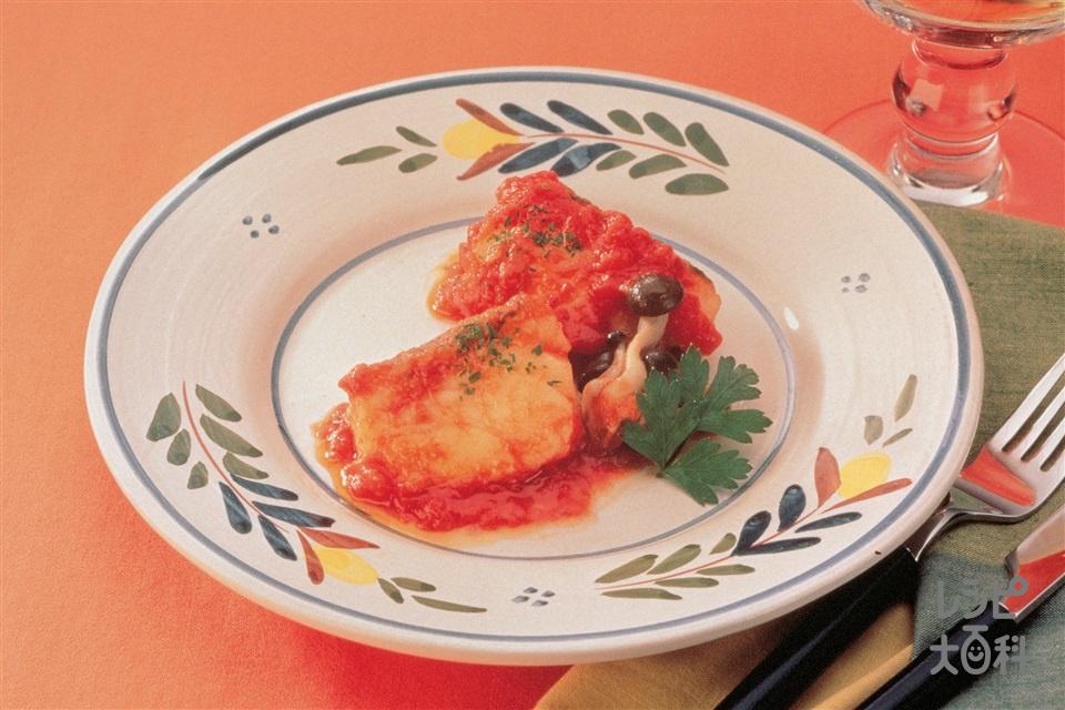 たらのトマト煮(たら+玉ねぎを使ったレシピ)
