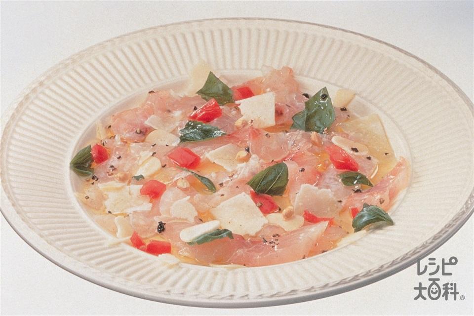 真だいのカルパッチョ(たい+トマトを使ったレシピ)