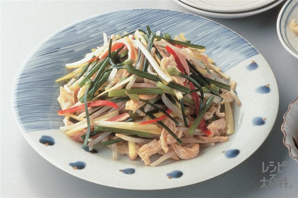 鶏肉の五目野菜炒め(鶏むね肉+もやしを使ったレシピ)