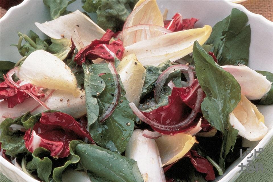 トスサラダ(レタス+チコリを使ったレシピ)