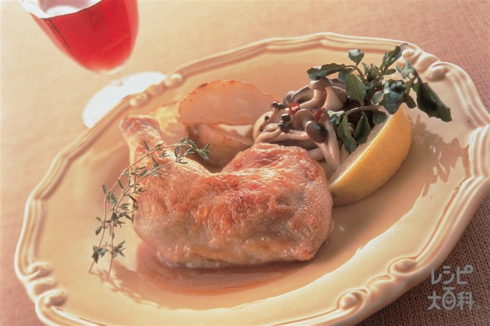 ハーブマリネのチキンロースト(鶏骨つきもも肉+じゃがいもを使ったレシピ)
