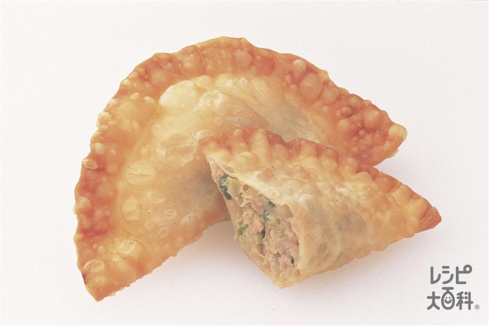 揚げギョーザ(豚ひき肉+キャベツを使ったレシピ)