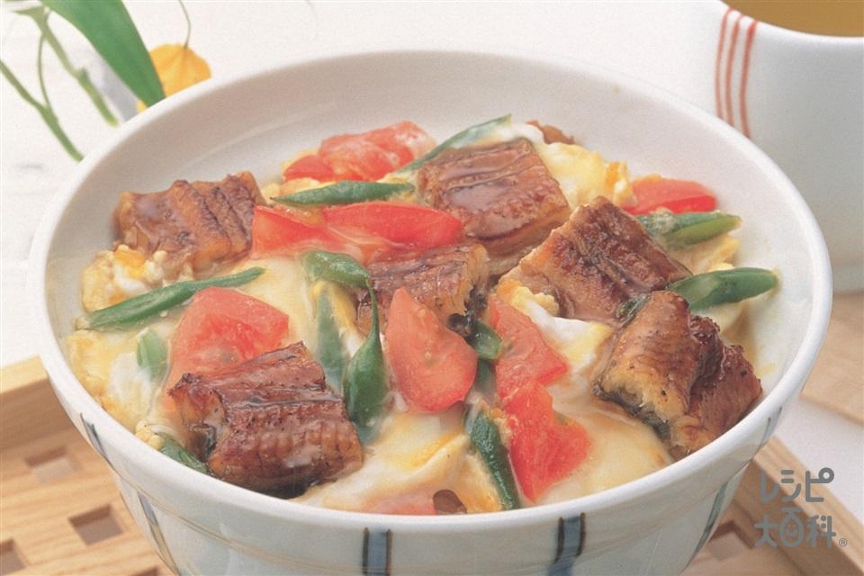 うな玉丼(卵+ご飯を使ったレシピ)