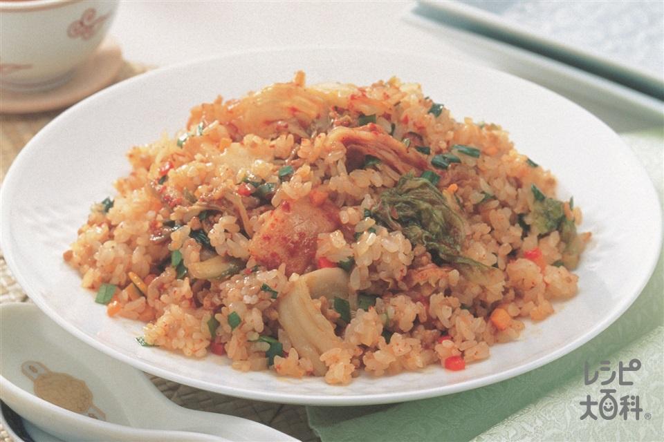 キムチチャーハン(ご飯+キムチを使ったレシピ)