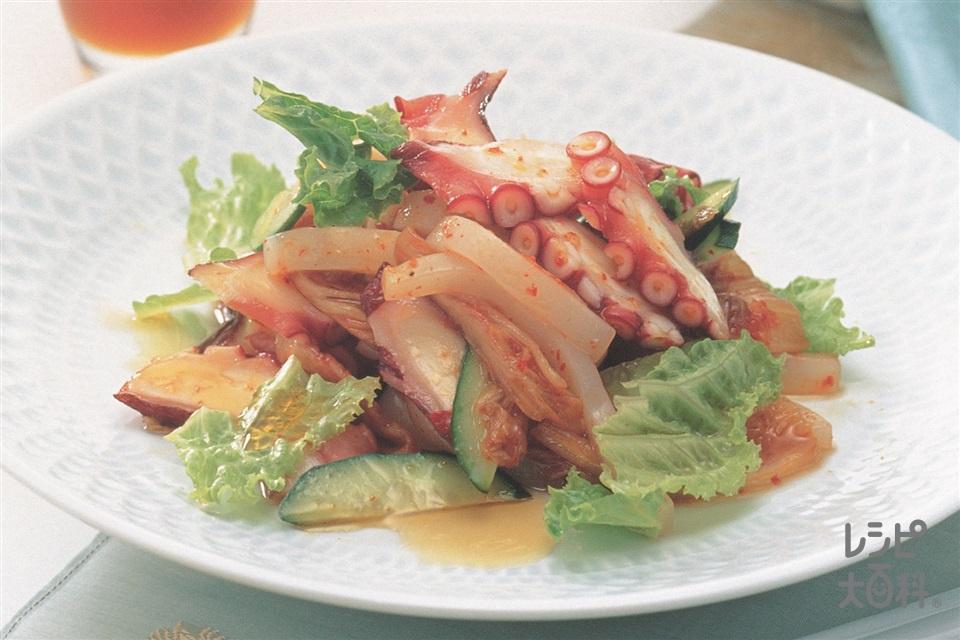 海鮮ごまキムチサラダ