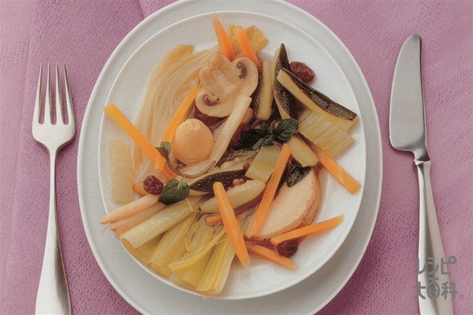 いろいろ野菜のギリシャ風(ズッキーニ+チコリを使ったレシピ)