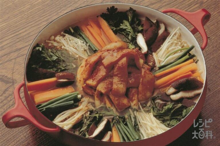 いかと野菜の韓国風鍋