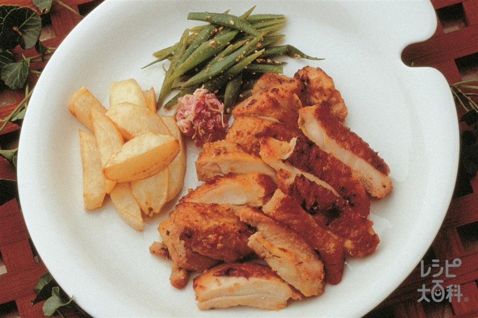 チキンのごまみそ漬け焼き(鶏もも肉+Aみそを使ったレシピ)