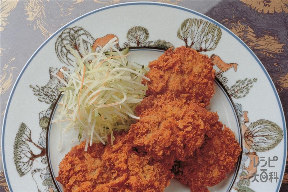 豚ひき肉のひと口メンチカツ(豚ひき肉+フランスパンを使ったレシピ)