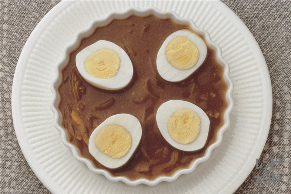 卵のカレー煮(玉ねぎ+ゆで卵を使ったレシピ)