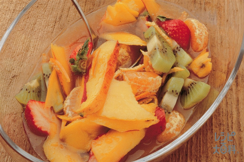 カクテルフルーツごま風味(パパイア+マンゴーを使ったレシピ)