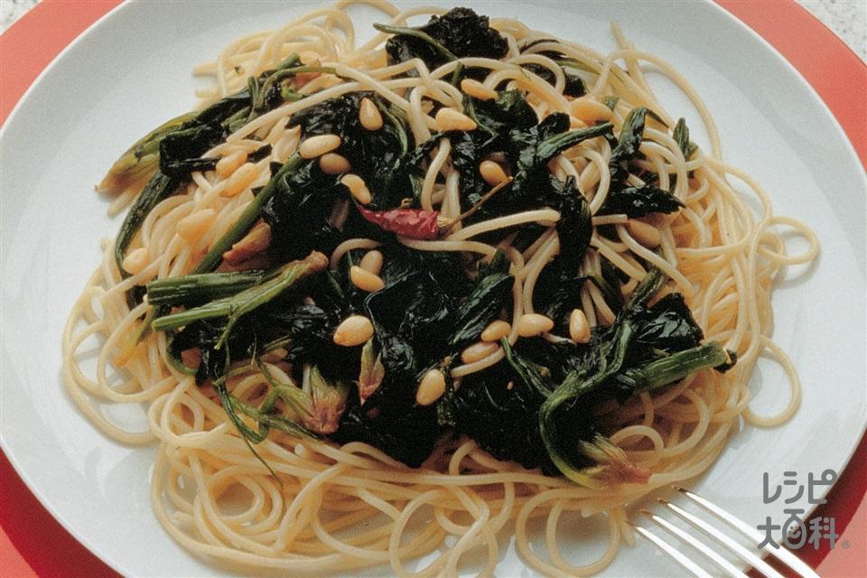 ほうれん草のスパゲッティ(スパゲッティ+ほうれん草を使ったレシピ)