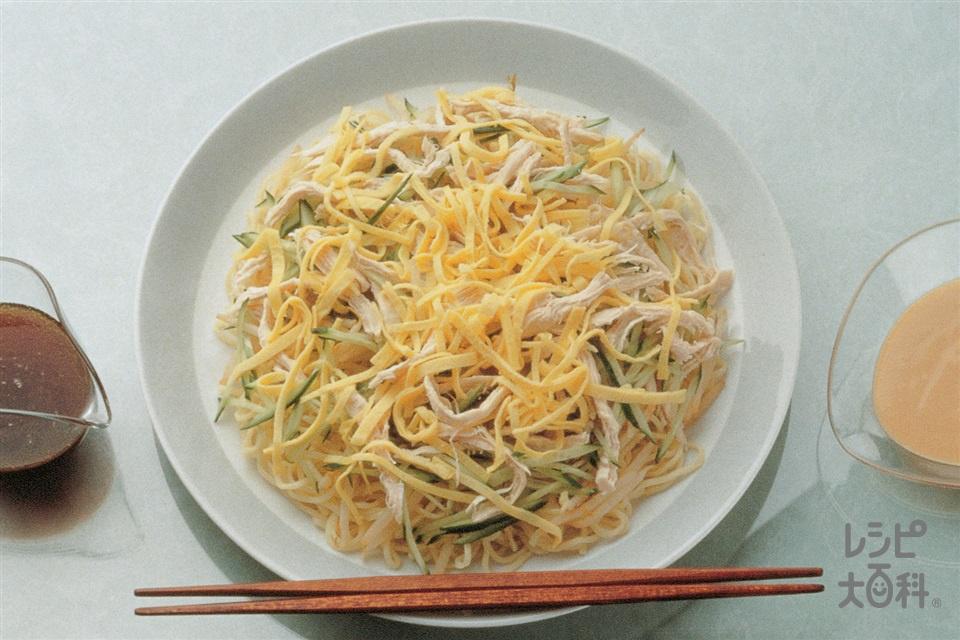 冷やし中華そば(中華生めん+鶏むね肉を使ったレシピ)