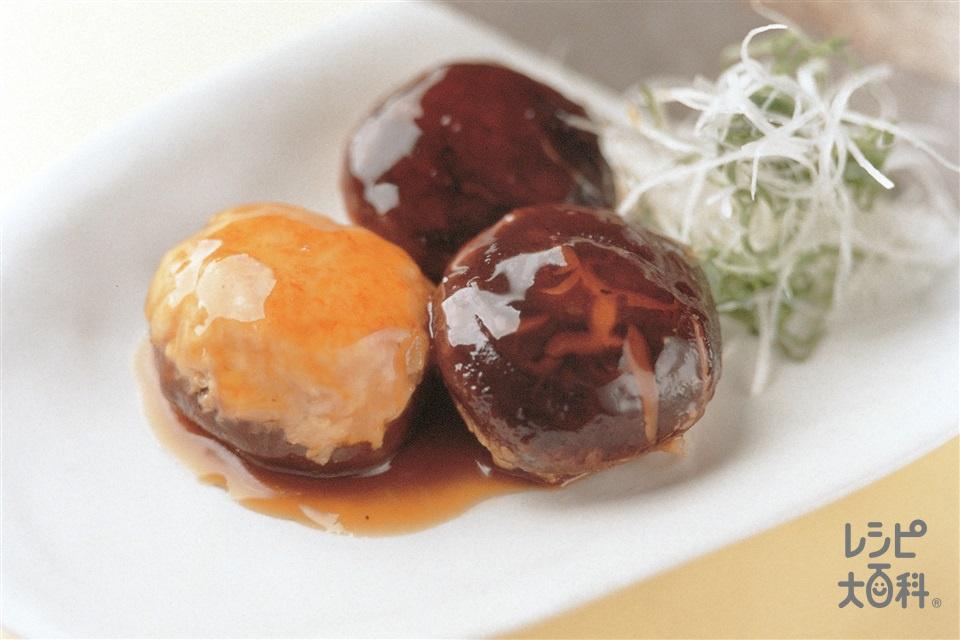 中国風しいたけの肉詰め(しいたけ+鶏ひき肉を使ったレシピ)