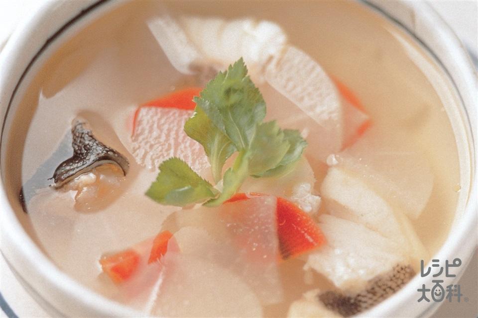 大根とたらのスープ(大根+にんじんを使ったレシピ)