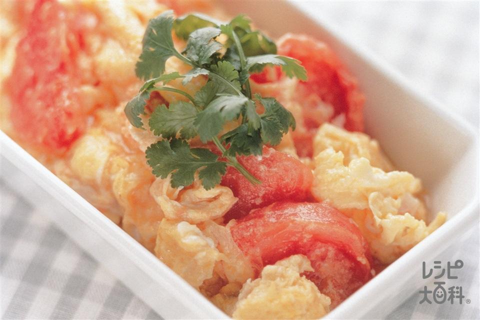 トマト入りスクランブルエッグ(トマト+卵を使ったレシピ)