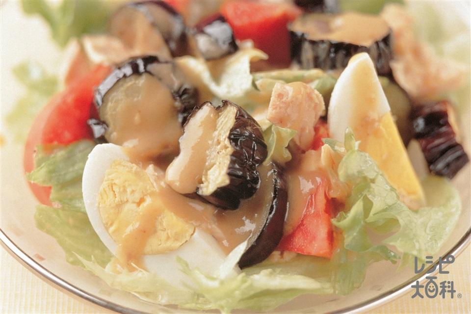 揚げなすのサラダ(なす+トマトを使ったレシピ)