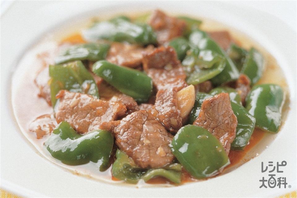 ピーマンと牛肉のオイスターソース炒め(ピーマン+牛もも薄切り肉を使ったレシピ)