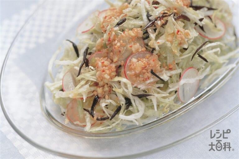 せん切りレタスとひじきのサラダ