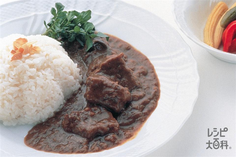 欧風ビーフカレー(牛すね肉+ご飯を使ったレシピ)
