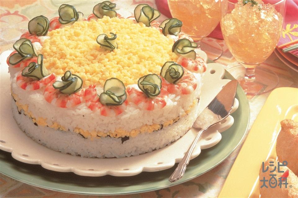 ヘルシーケーキすし(米+A水を使ったレシピ)