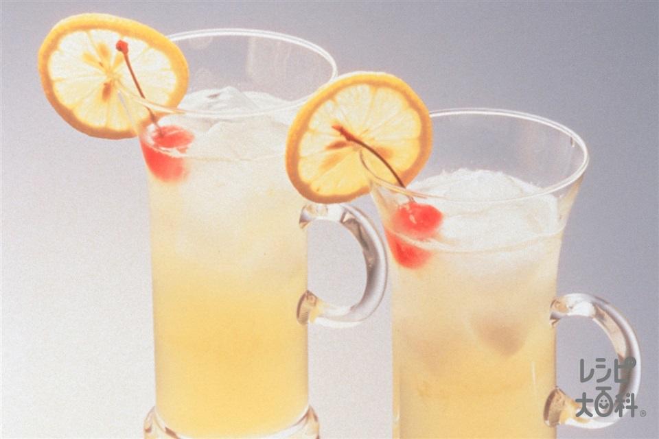 レモンスカッシュ(レモン汁+レモンを使ったレシピ)