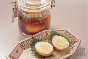 ゆで卵のつゆ漬け(カレー味)