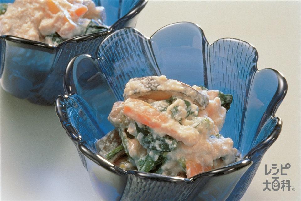 白あえ(ほうれん草+木綿豆腐を使ったレシピ)