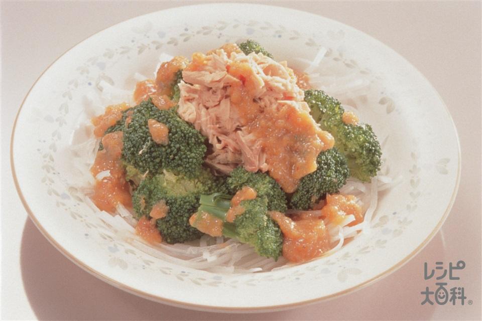 ブロッコリーとツナのサラダ オニオンドレッシング(ブロッコリー+大根を使ったレシピ)