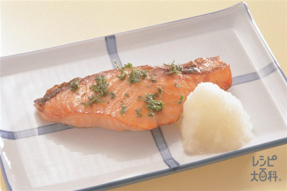 鮭の木の芽焼き(生ざけ+Aしょうゆを使ったレシピ)
