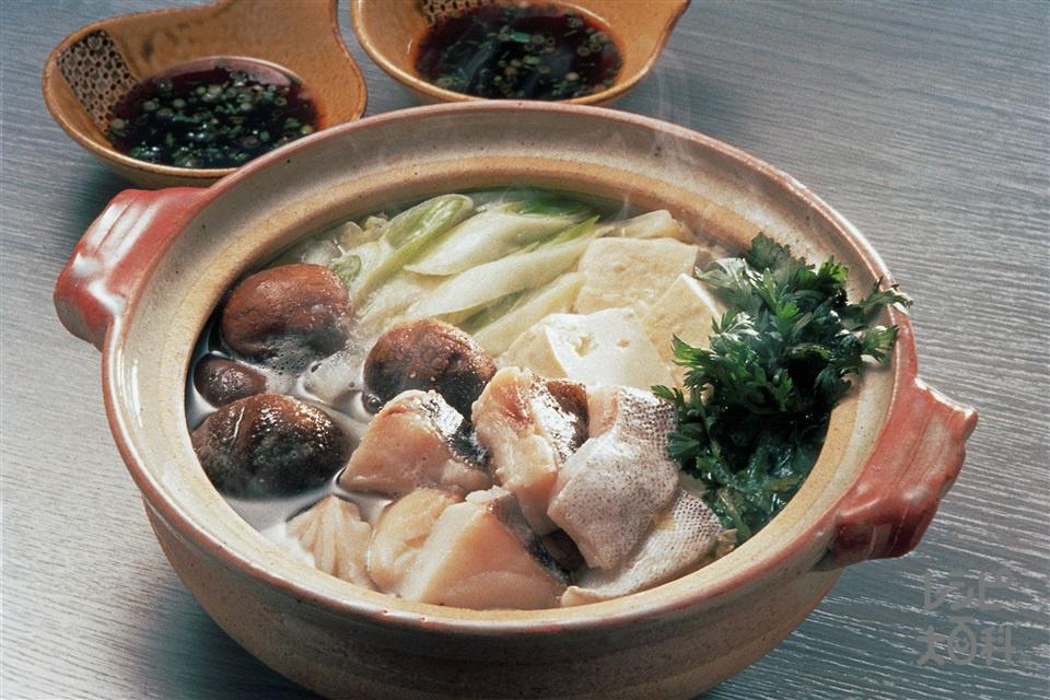 簡単よせ鍋・ポン酢(木綿豆腐+たらを使ったレシピ)